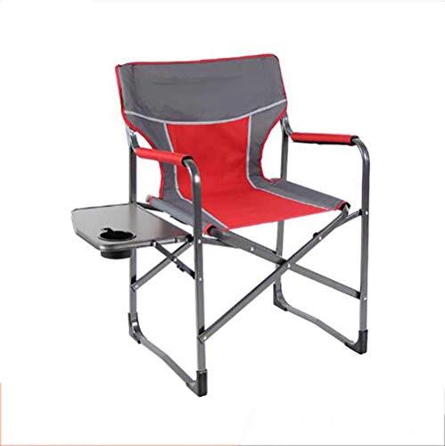 L@LILI Chaise de Camping Pliante avec Table d'appoint, Chaise de pêche en Aluminium léger en Plein air Chaise Portable Compact Yard pour Les Personnes Lourdes,A
