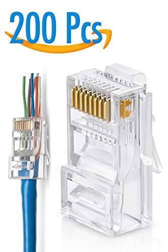 cat5e 100X EZ RJ45 Network Cable Modular 8P8C Connector End Pass Through cat6