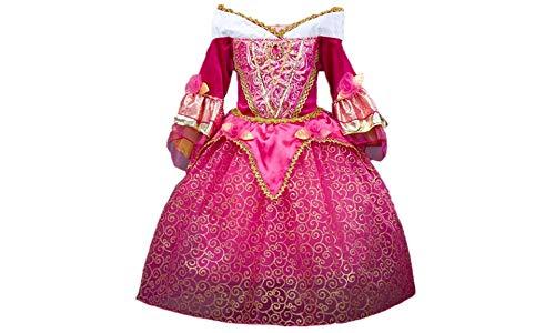 『DreamHigh 眠れる森の美女 オーロラ姫 女の子用 コスチューム ドレス 3-10歳』の1枚目の画像