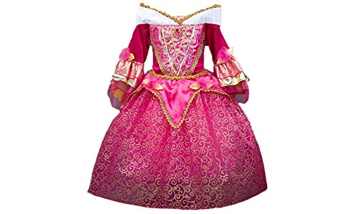 DreamHigh Sleeping Beauty Princess Girls Costume Dress Size 7-8 Years Pink