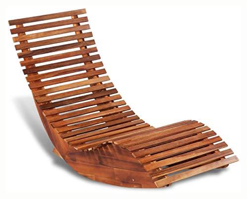Rocking Chair, Rocking Sun Lounger Acacia Wood