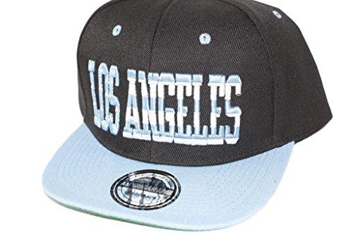 Hip Hop Casquette chapeau CITY SNAPBACK équipe ville américaine FS-413 (LOS ANGELES-SCHWARZ-HELLBLAU-)