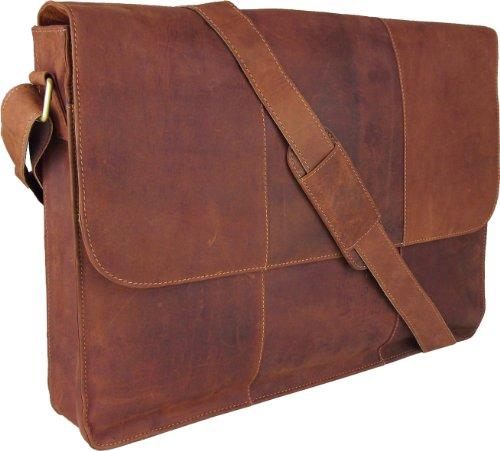 Unicorn Echt Leder 43,2cm Laptop Tasche iPad, Kindle, eBook oder Tablets Halter–Tan # 6G
