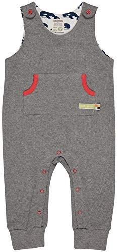 loud + proud Strampler Mamelucos para bebés pequeños, Acero, 62/68 Unisex Niños