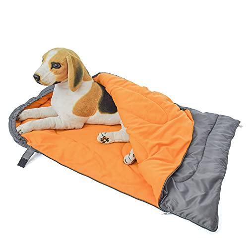Saco de Dormir para Perros, Camas para Perros Cálido Sleeping Bed Bag con Bolsa de Almacenamiento para Viajes Camping Senderismo