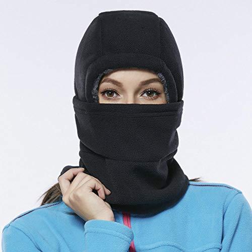 QFYD FDEYL Winter Skimaske Unisex Baumwolle Warm,Fleece verdickte Radsportmaske-schwarz,Sturmhaube fahrradhelm