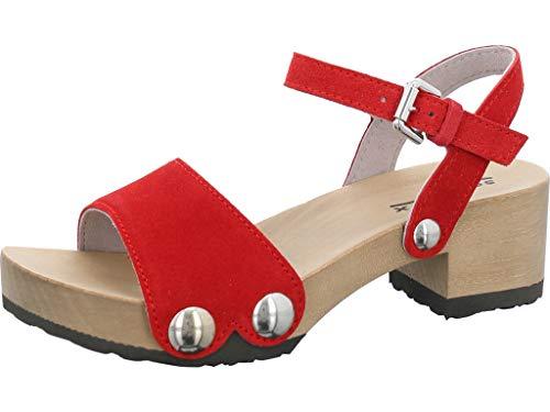 Softclox S3378 Penny - Damen Schuhe Sandaletten - red, Größe:38 EU