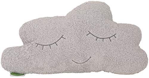 Smithy Kissen/Dekokissen/Kinderkissen Wolke, grau, 35x20 cm