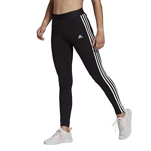 adidas womens 3-Stripes Leggings Black/White Large