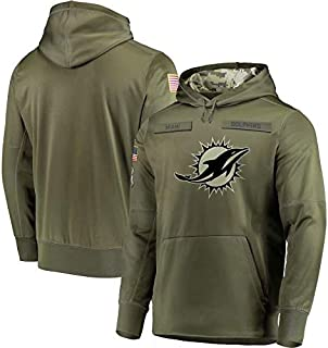 Dunbrooke Apparel Miami Dolphins Salute to Service Hoodie Camo for Men Women Youth