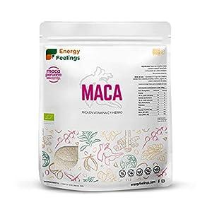 Energy Feelings Maca Andina En Polvo Ecológica Peruana | Maca Mixta: Roja, Negra Y Amarilla | Nutrición Deportiva | Vegana | Sin Gluten, color Beige, 1 Kg