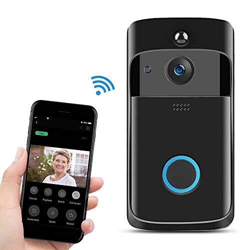 Fesjoy Wireless Smart DoorBell 720P Telecamera WiFi Videotelefono Videocitofono Campanello a 2 vie Audio Video Campanello Supporto Notte a infrarossi Vista Sensore di movimento PIR Android IOS APP