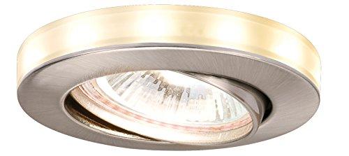 Paulmann Spot encastrable Set avec Ciel étoilé LED en Fer brossé, 3pc. Ensemble
