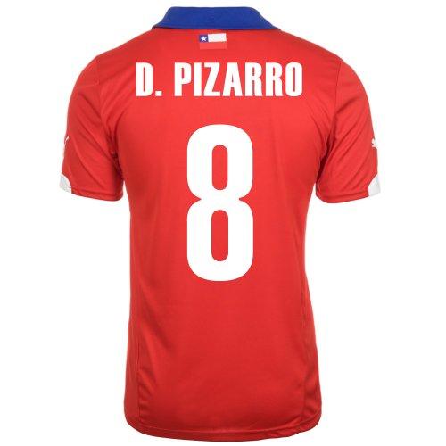 Puma D. PIZARRO #8 Chile Home Jersey World Cup 2014/サッカーユニフォーム チリ ホーム用 ワールドカップ2014 背番号8 ダビド・ピサーロ (XL)