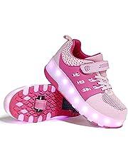 Wielen Schoenen Kinderen Jongen Meisje LED Roller Schoenen Sneaker Met Wielen Kleur Veranderende Wielen Skate Schoenen Dubbele Wiel Roller Skates Pully Schoenen