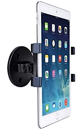 "AboveTEK iPad Wall Mount, Swivel 360° Rotating Tablet Holder w/ Two Brackets to Fit 6-13"" Tablets, Horizontal/Vertical Tilt iPad Arm for Flexible Viewing Angles in Kitchen House Showroom Retail Store"