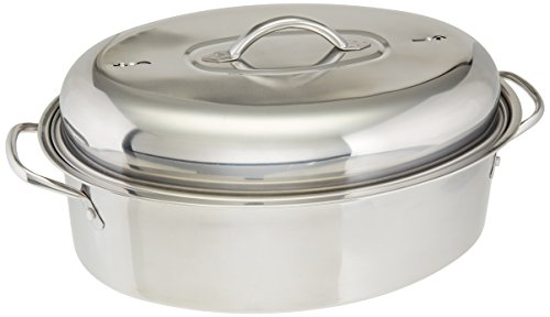 Cook Pro All-in-1 Stainless High Dome Roaster and Fish Poacher, 23-Pound