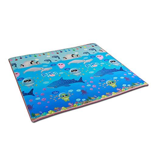 MNSSRN Undersea World XPE Fitness Tapis de Jeu, Tapis de bébé créatif, épaississant imperméable à l'eau, respectueux de l'environnement, Facile à Nettoyer,200 * 150 * 1.5cm