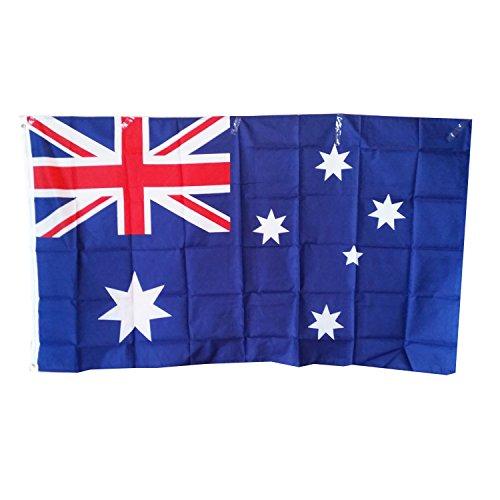 Australische vlag Souvenir! Souvenir! Speicher! / Memoria! Ongeveer 150 cm bij 90 cm / 5' x 3' Polyester voor het vieren van Australisch erfgoed! / Drapeau! / Vlaggen! Bandiera! Bandera!