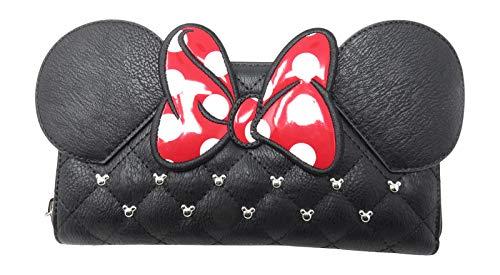 Loungefly x Minnie Bow Wallet WDWA0564, Black, Standard