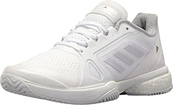 adidas Women s Asmc Barricade Boost 2017 Tennis Shoe White/Solid Grey/Night Steel 10.5