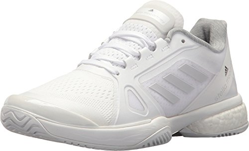 adidas Women's Asmc Barricade Boost 2017 Tennis Shoe, White/Solid Grey/Night Steel, 6.5