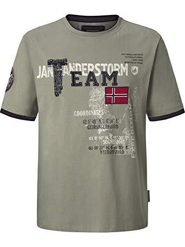 Jan Vanderstorm Herren Kurzarm T-Shirt Sölve Oliv 3XL (XXXL) - 64/66