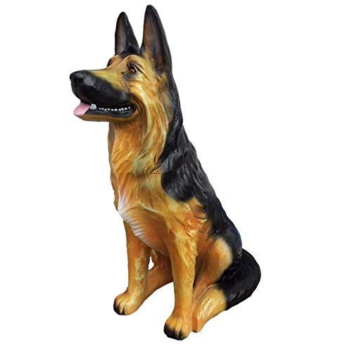 XL Premium Schäferhund sitzt in lebensgross 85cm Hund Garten Deko Figur
