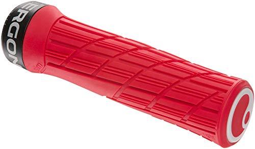 Ergon - GE1 Evo Ergonomic Lock-on Bicycle Handlebar Grips   for Mountain, Trail and Enduro Bikes   Regular Fit   Risky Red
