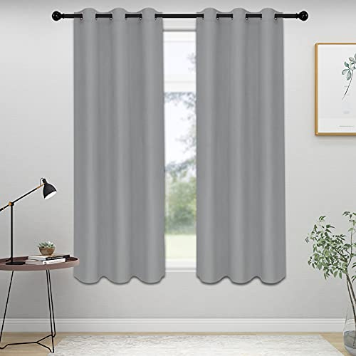 ISSUNTEX Blackout Curtains for Bedroom, Thermal Insulated Window Curtains for Living Room, Noise Reduction and Sun Light Blocking Grommet Curtain...