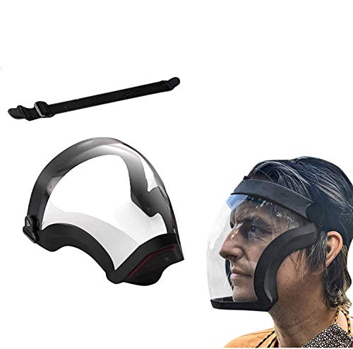 Adults Clear Unisex Fashion Face Seamless_Transpaernt_Shield, Active_Shield, Anti Fog_Shields Durable Plastic Reusable All-Inclusive Designed_Shields Lightweight Face Covering for Men Women