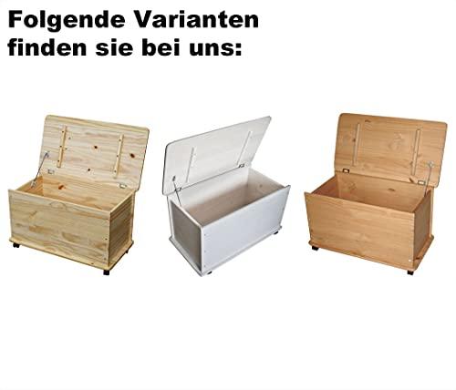 KMH®, große Spielzeugkiste auf Rollen aus massivem Pinienholz (Natur) (#800068) - 5