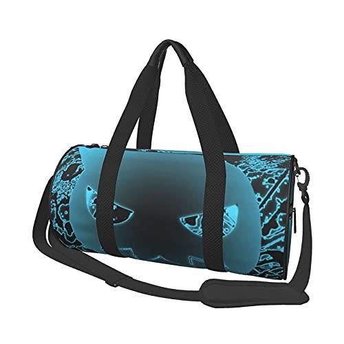 Soul Eater Bolsa de viaje Folle Bolsa de gimnasio, para deporte, militar, camping, actividades al aire libre, juegos de 47 x 22 cm