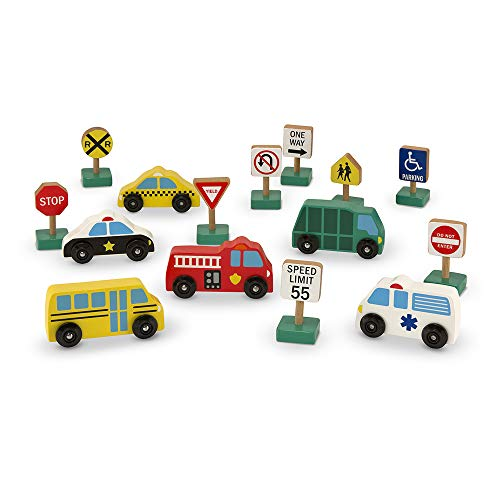 Melissa & Doug Wooden Vehicles & Traffic...