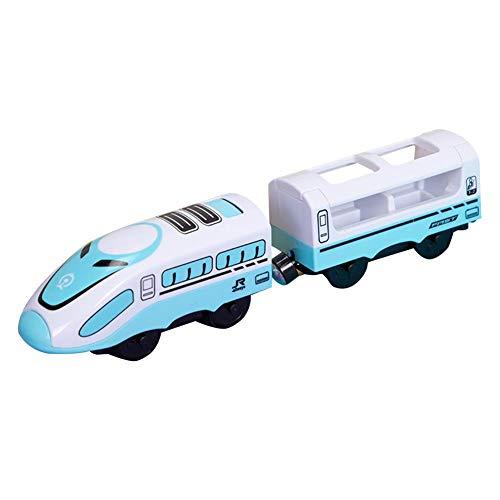 Hearthrousy Eisenbahn elektrische lok Holzeisenbahn Zug Elektrische Spielzeug Zug Kinder Lokomotive Kompatibel mit Holzschienen Kinder Spielzeuglok Junge Mädchen Kleinkind Spielzeug