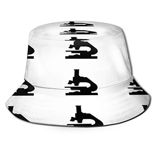 popluck Flat Top Breathable Bucket Hats Unisex Microscope Socks Bucket hat Autumn and Winter Fisherman hat