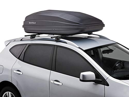 SportRack Vista XL Rear Opening Cargo Box (Black, 18 Cubic Feet)