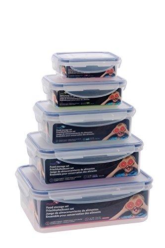 Maturi - Juego de 5 recipientes herméticos para comida