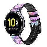 Innovedesire Digital Art Colorful Liquid Correa de Reloj Inteligente de Cuero y Silicona para Samsung Galaxy Watch, Watch3 Active, Active2, Gear Sport, Gear S2 Classic Tamaño (20mm)
