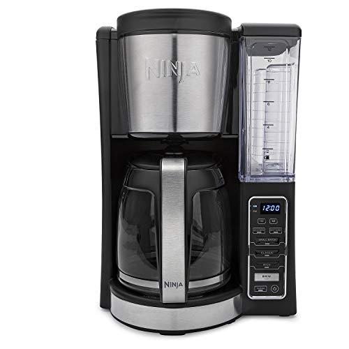 Ninja CE201 12-Cup Programmable Coffee Maker, Medium, Black Stainless Steel (Renewed)