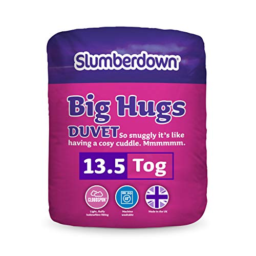 Slumberdown Big Hugs 13.5 Tog Duvet-King Size, Bianco