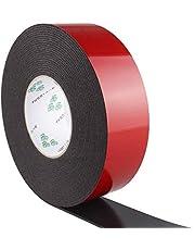 iVict 強力両面テープ アクリルフォーム 防水用 超強力 粘着 接着剤 多用途 屋内 屋外 車用 耐熱テープ30mmの幅さ 2mmの厚さ 10Mの長さ