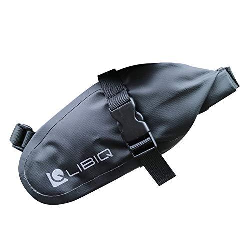 LIBIQ(リビック)自転車 サドルバッグ 防水バッグ ロードバイク クロスバイク マウンテンバイク サドルバッグ オールウェザーロール【1.5Lコンパクトに見えて大容量】 (3、ブラック)