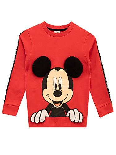 Disney Sudadera para niños Mickey Mouse Rojo 2-3 Años