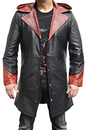 EU Fashions DMC Devil May Cry 4 Dante Cosplay Kostüm Mantel Gr. XX-Small, Dmc Dante 4 Coat - Faux Leather