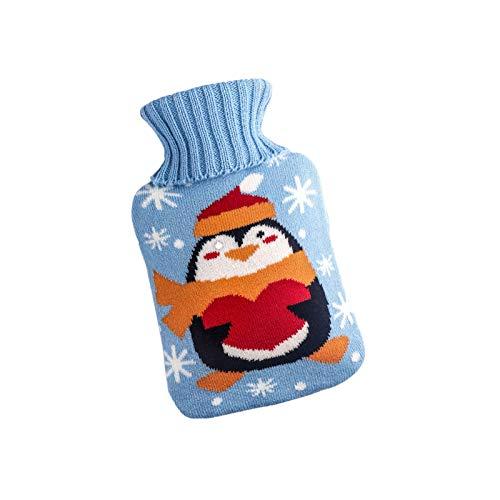 Botella de agua caliente de silicona de Navidad clásica aislamiento a largo plazo con cubierta de punto de lujo para mujeres bebé