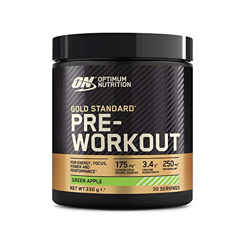 Optimum Nutrition 330 g Apple Gold Standard Pre-Workout Supplement by Optimum Nutrition
