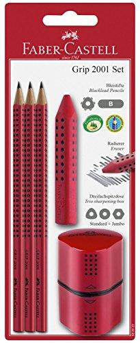 Faber-Castell 580022 - Grip 2001 Set, 5-teilig, rot