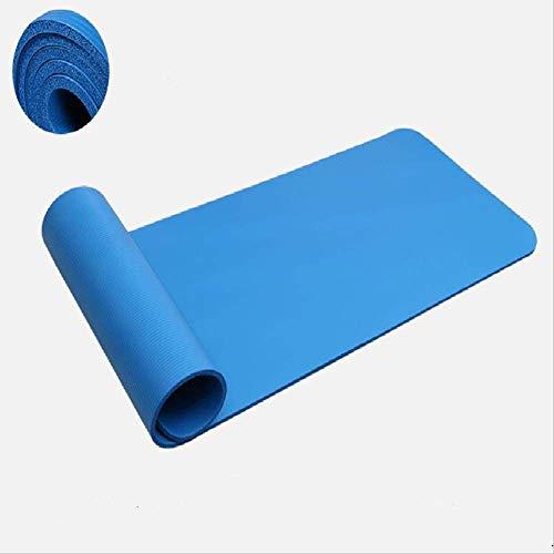 30 mm Super spesso Yoga Mat Fitness Mat Protezione ambientale Addensare 183 * 61 * 3.0 cm 183x61 cm Blu