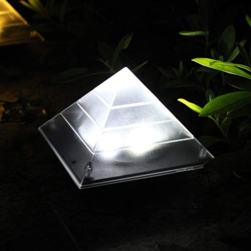 MASODHDFX 2-delig/los licht voor tuin decoratieve power outdoor solar lamp Luminaria piramide LED graven tuin gazon weg lamp patio decor, B